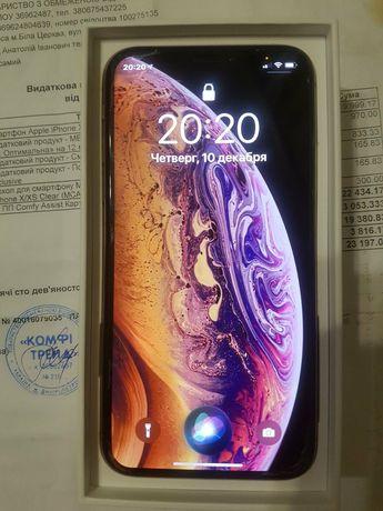 iPhone XS 64Gb Gold,10-точка,новый с 11 мозгами.