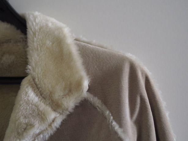 Kożuch ciepły futerko miłe w dotyku S/M