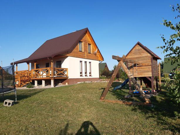 Dom domek nad jeziorem Orzysz na Mazurach noclegi