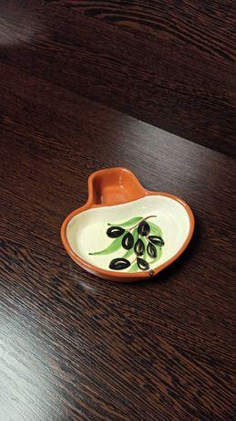 Мисочка, подставка, блюдо для оливок. Португалия. Керамика.