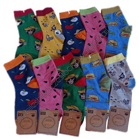 Skarpetki damskie, kolorowe, śmieszne, rozmiar 35-38, 38-41