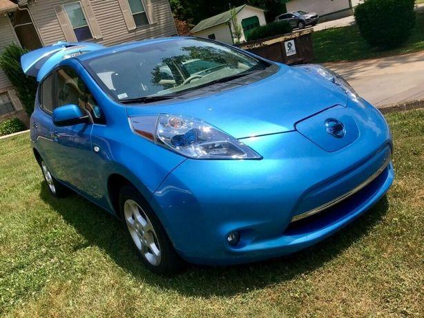Nissan leaf SL 05-12 usa 24kVh 56% голубой небитый 152т.км рассрочка