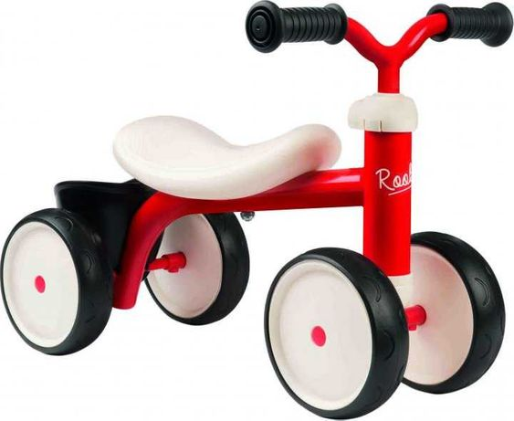 Беговел детский Smoby Toys металлический, четырехколесный красный