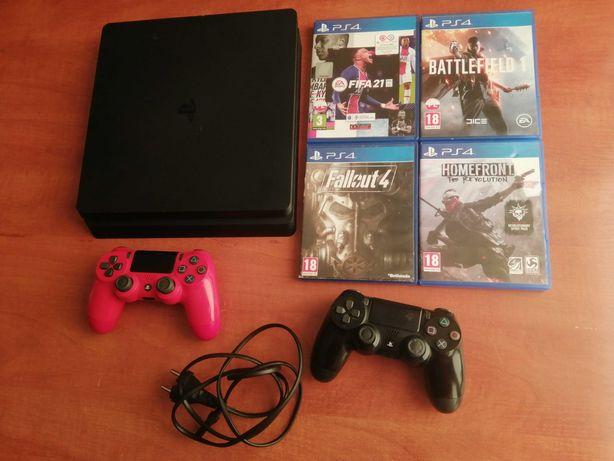 Konsola PS4 500gb Slim + gry (Fifa 21)