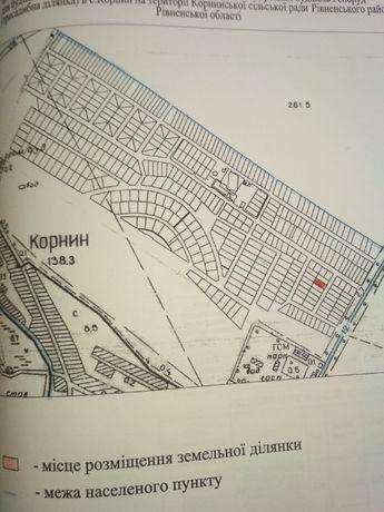 Корнин земельна ділянка під будівництво