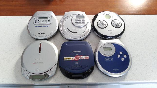 Leitor CDs Discman Walkman várias marcas