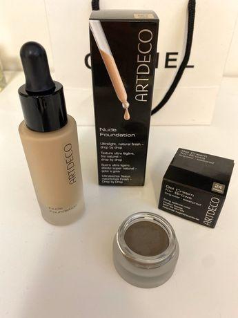 Artdeco nude foundation тональная основа, гель-крем для бровей