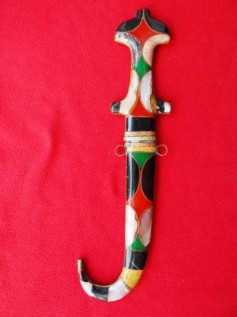 Marokański nóż - sztylet, kindżał arabski zdobiony