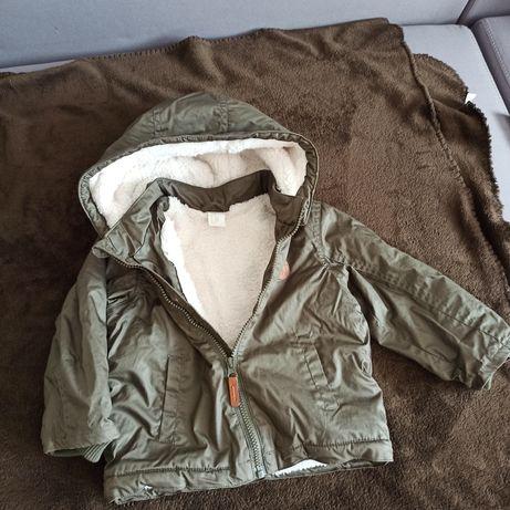 Ciepła kurtka przeciwdeszczowa H&M rozm. 92