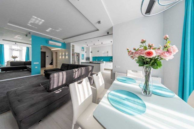 3х комнатная двухуровневая квартира 115м Дизайнерский ремонт Аркадия