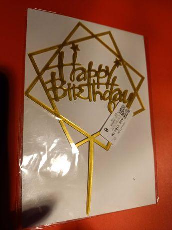 Topper urodzinowy na tort
