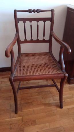 Cadeira palhinha com braços