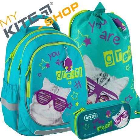 Школьный набор 3 в 1 Kite КАЙТ Рюкзак Пенал Сумка Для девочки