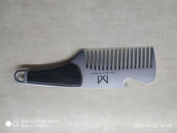 Grzebień metalowy do brody