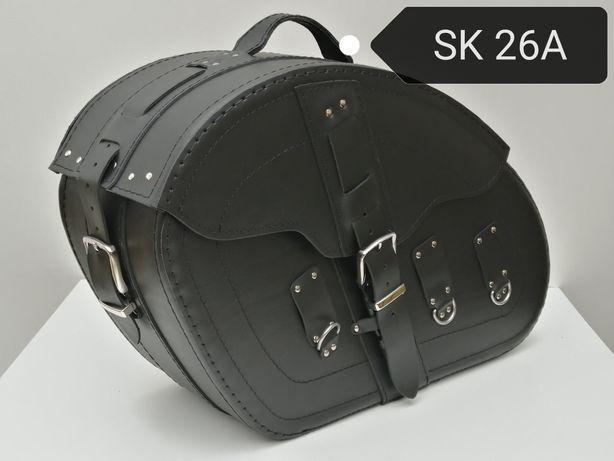 DUŻE sakwy na motor 25L/szt! torby motocyklowe zamek na klucz skóra