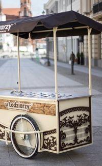 Wózek lodowy, riksza, witryna, konserwator 8 smaków