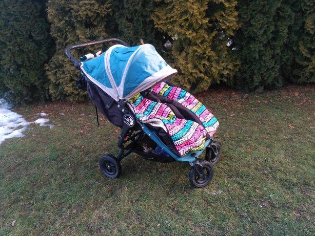 Wózek Baby jogger City double GT - bliźniaczy /rok po roku +śpiworki