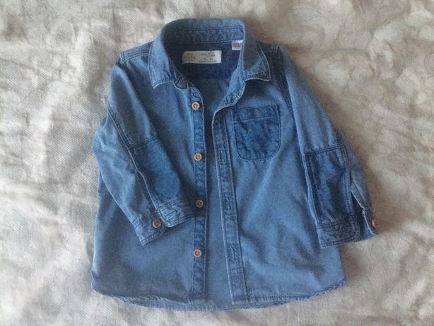 Рубашка джинсовая zara 9-12м