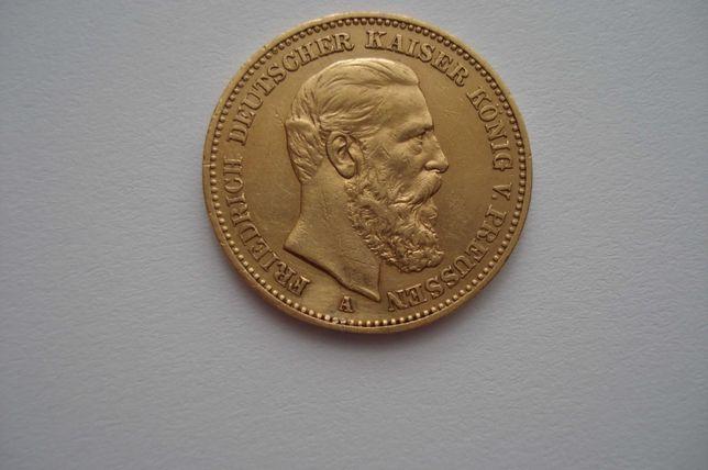20 марок 1888 г Золото
