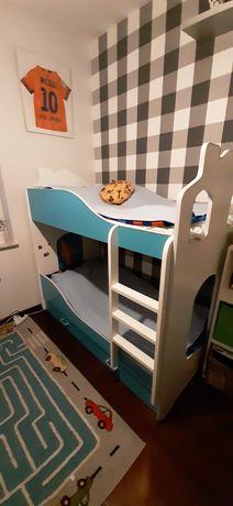 Łóżko piętrowe DOMEK 160x80