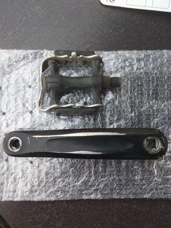 Lewa aluminiowa korba solidna do roweru gratis pedał