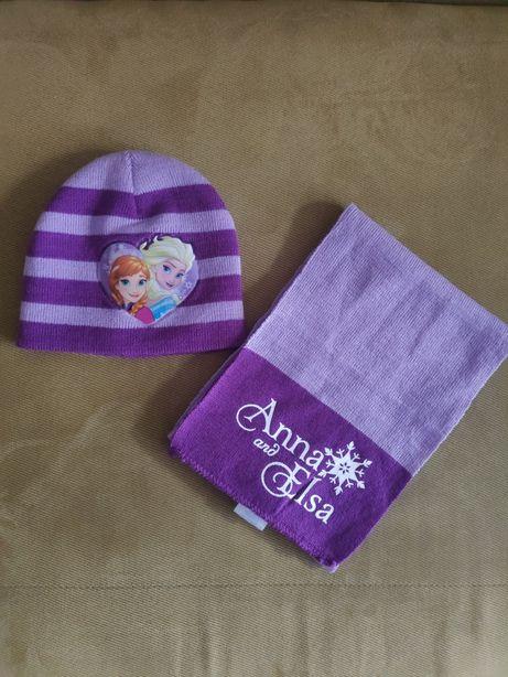 Шапочка и шарфик для девочки 1-2-х лет