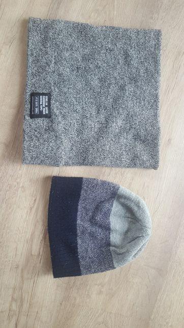 Komplet zimowy dla chłopca czapka i komin 2-3 lata