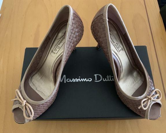 Sapato peep toe, Massimo Dutti