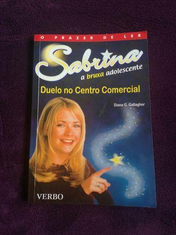"""Vendo livro """"Sabrina, a bruxa adolescente"""""""