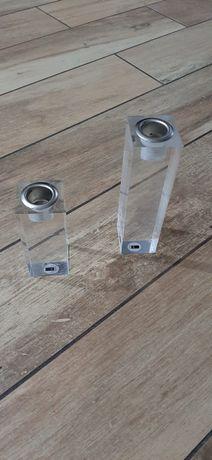 Przezroczyste nowe świeczniki nowoczesny design