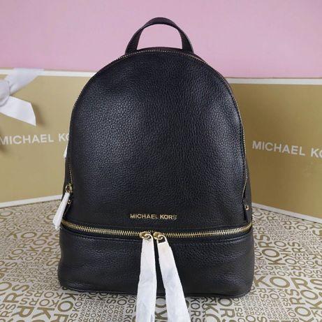 Кожаный рюкзак Michael Kors black md оригинал Майкл Корс