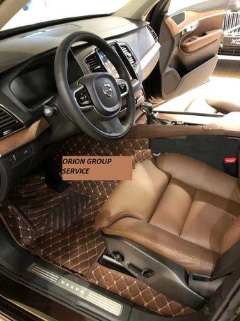 Коврики 3d багажник эко кожа Вольво Volvo Kia VW Audi Dodge XC-90 2019