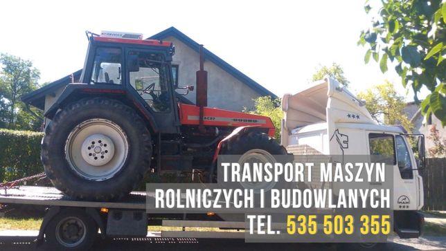transport maszyn rolniczych i budowlanych