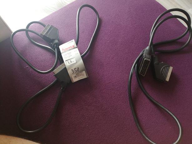 Dwa kable Euro Scart
