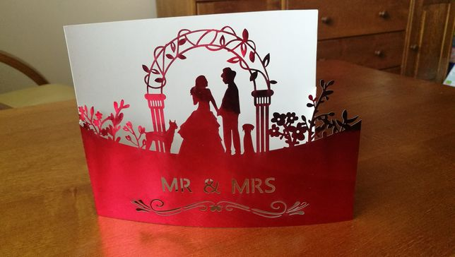 Zaproszenie ślubne śliczne wyjątkowe