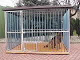 Konstrukcja ocynkowana dla psa, kojec dla psa, zadaszanie, schronienie