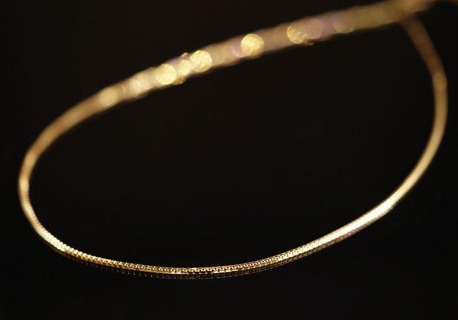 Złoto 585 - złoty łańcuszek kosteczka drobna 50 cm