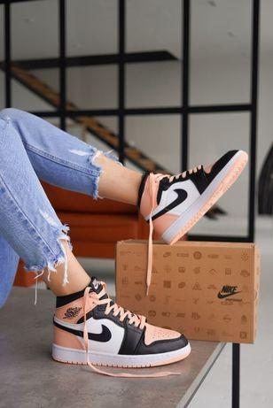 Nike Jordan Retro 1 Pink Black White размеры 36,37,38,39,40,41,42,43,4