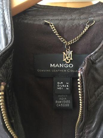 Skórzana kurtka Mango rozmiar M