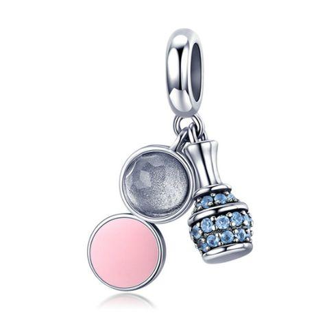 Charms PANDORA srebro 925 zawieszka wisząca kosmetyki perfum emalia cy