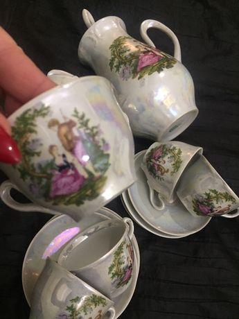 Сервиз Мадонна ГДР фарфоровый кофейный чайный набор кружки