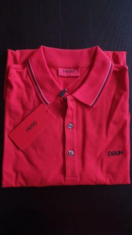 Koszulka polo Hugo Boss czerwona