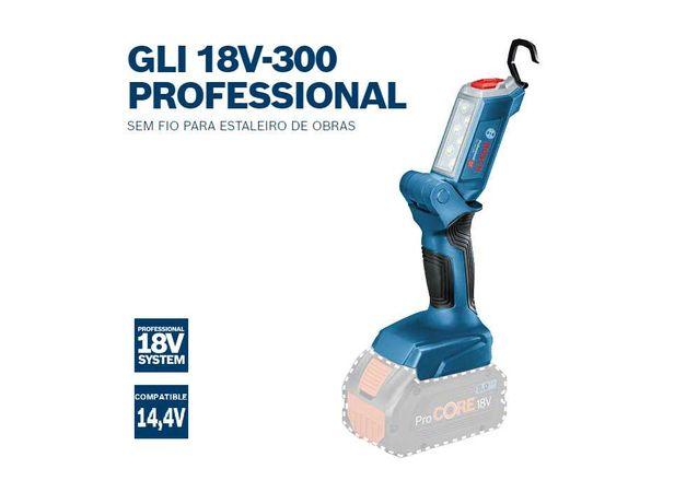 Bosch Professional Lanterna sem fio GLI 18V-300