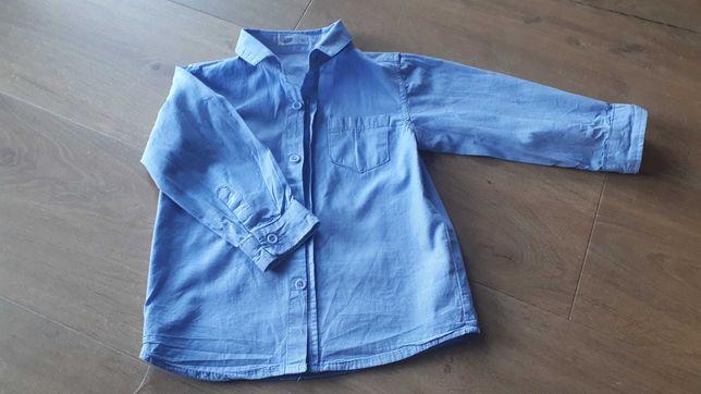 Elegancka niebieska koszula 80