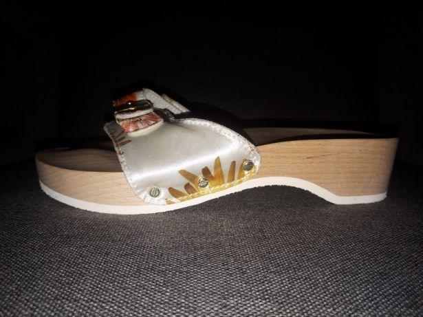 Scholll drewniaki-chodaki klapki sandaly medyczne roz 36/ 23cm