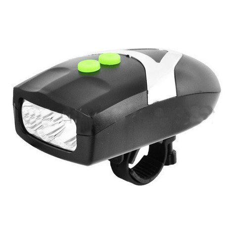 Велофара + велосипедный звонок YC-037 3LED влагозащита