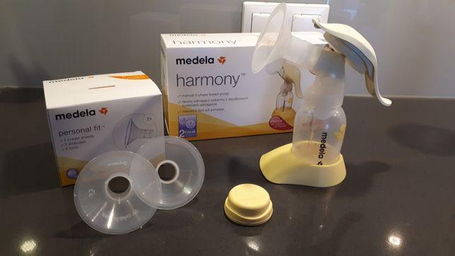Laktator ręczny dwufazowy Harmony marki Medela plus nowe lejki gratis