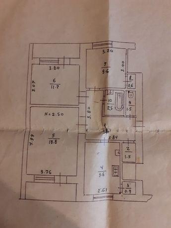 Продам 3к квартиру в пгт. Семеновка Полтавской области