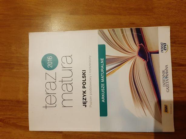 Sprzedam arkusze maturalne język polski i matematyka nowa era