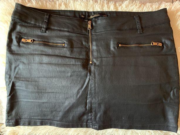 РАСПРОДАЖА! Классная кожаная мини-юбка